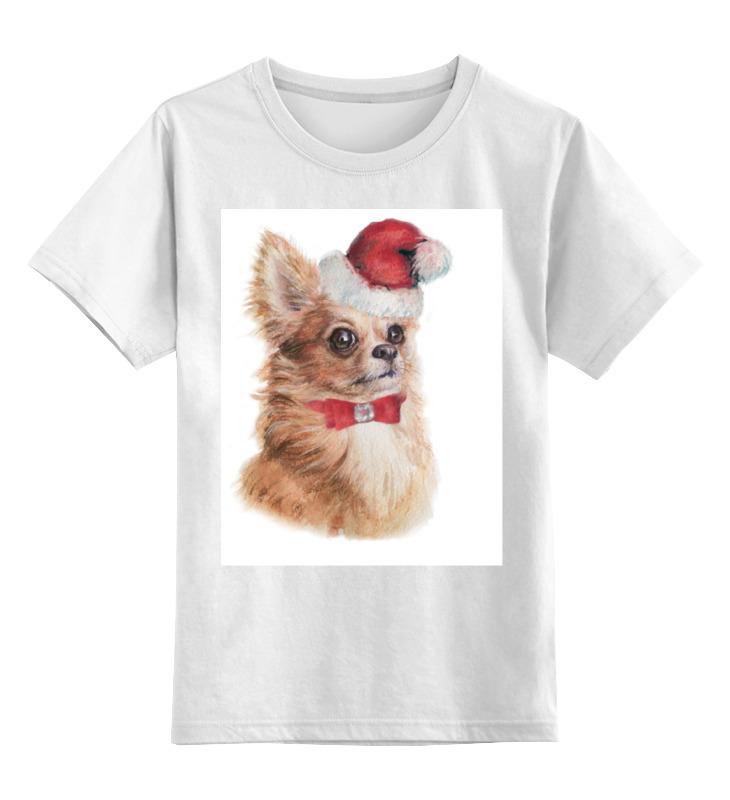 цена на Детская футболка классическая унисекс Printio Новогодняя собачка