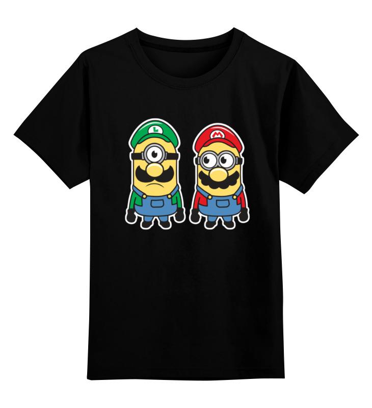Детская футболка классическая унисекс Printio Братья марио (миньоны) детская футболка классическая унисекс printio миньоны