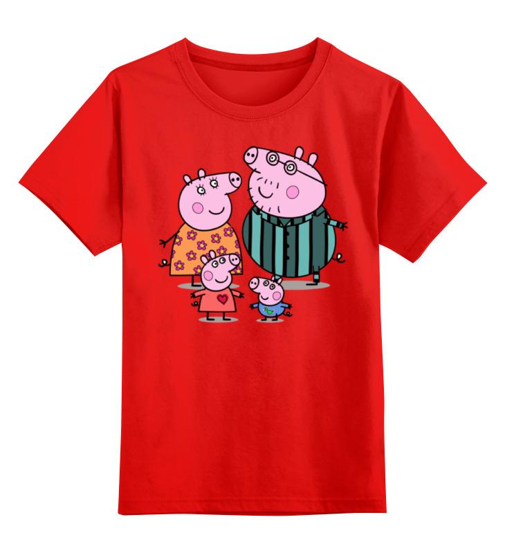 Детская футболка классическая унисекс Printio Пеппа smoby детская горка king size цвет красный