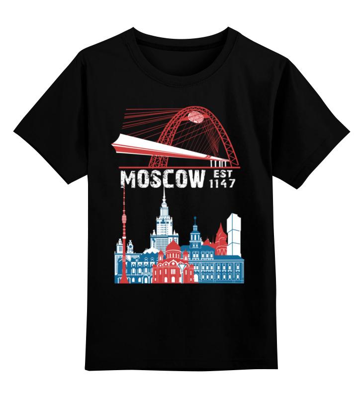 Детская футболка классическая унисекс Printio Moscow. established in 1147 faithless live in moscow