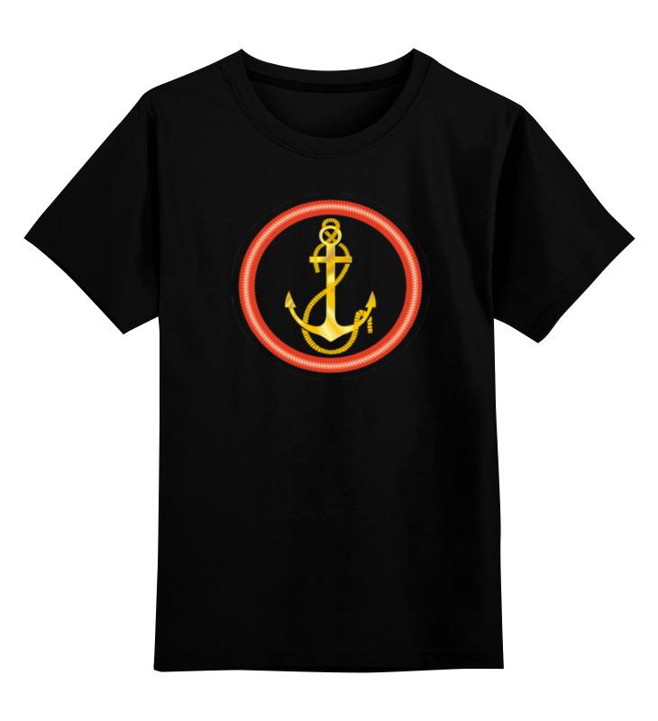 Детская футболка классическая унисекс Printio Якорь одежда якорь