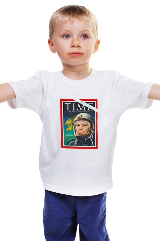 Детская футболка классическая унисекс Printio Лицо гагарина на обложке самарканд квартиру ул гагарина
