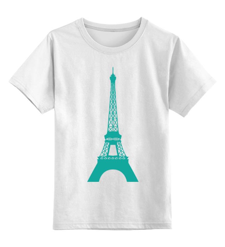 Детская футболка классическая унисекс Printio Эйфелевая башня башня сова