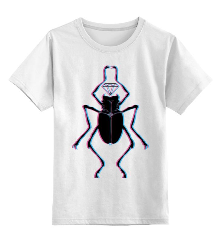 Детская футболка классическая унисекс Printio Жук и алмаз алмаз алмаз 1020