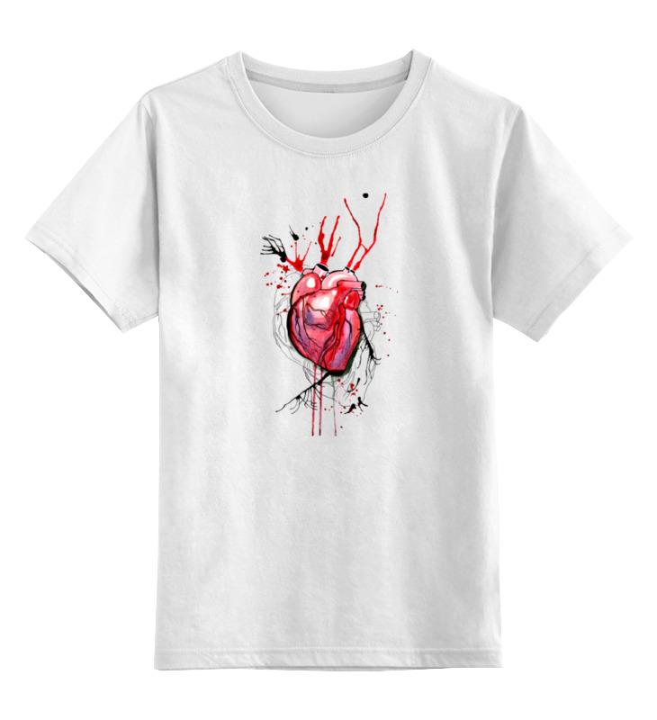 Детская футболка классическая унисекс Printio Обнаженное сердце футболка классическая printio акварель сердце из голубики