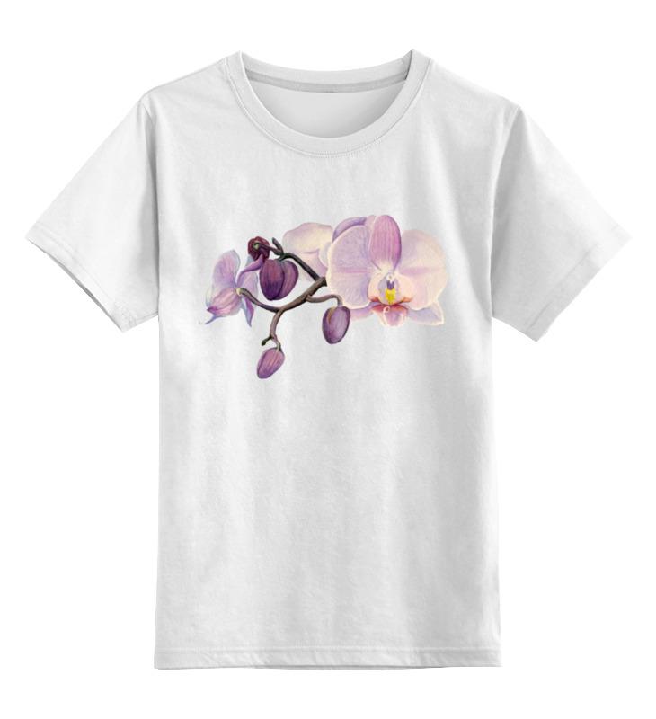 Детская футболка классическая унисекс Printio Ветка орхидеи цветной тм орхидеи