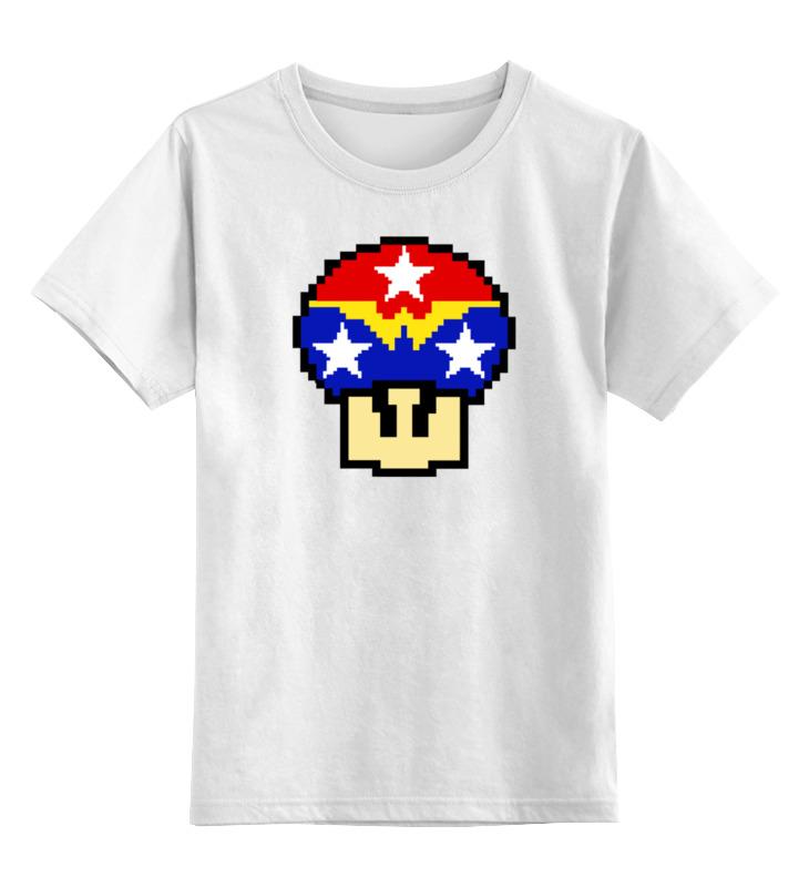 Детская футболка классическая унисекс Printio Гриб марио (чудо-женщина) сахаров е сост английский язык 9 класс контрольно измерительные материалы