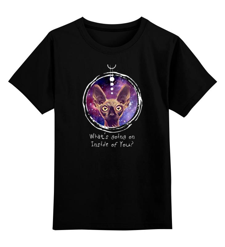 Детская футболка классическая унисекс Printio Galaxy cat