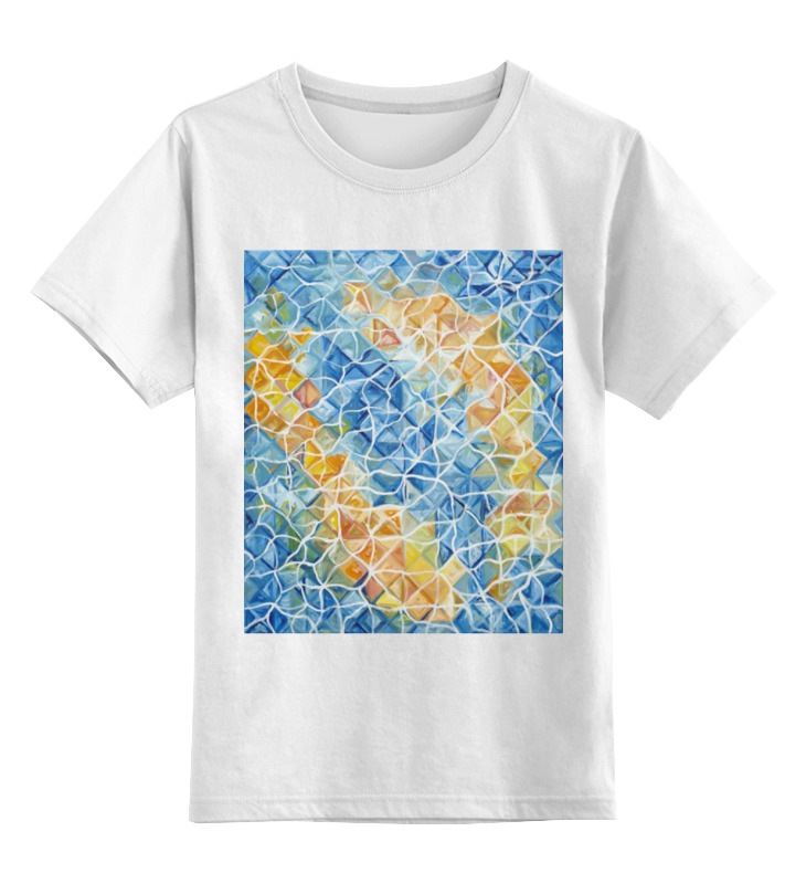 Детская футболка классическая унисекс Printio Рыбы в бликах