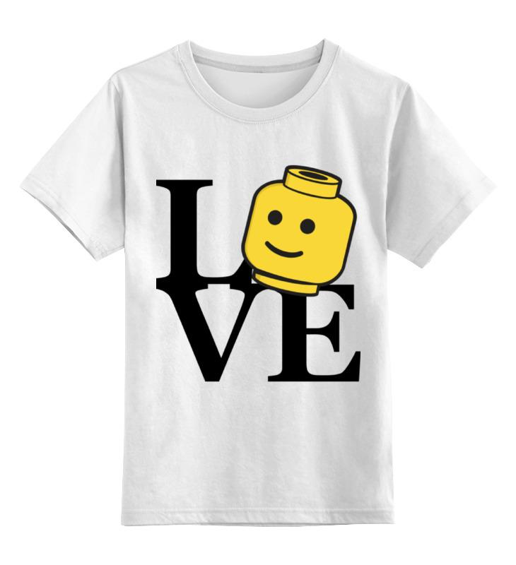 Детская футболка классическая унисекс Printio Люблю лего детское лего gudi