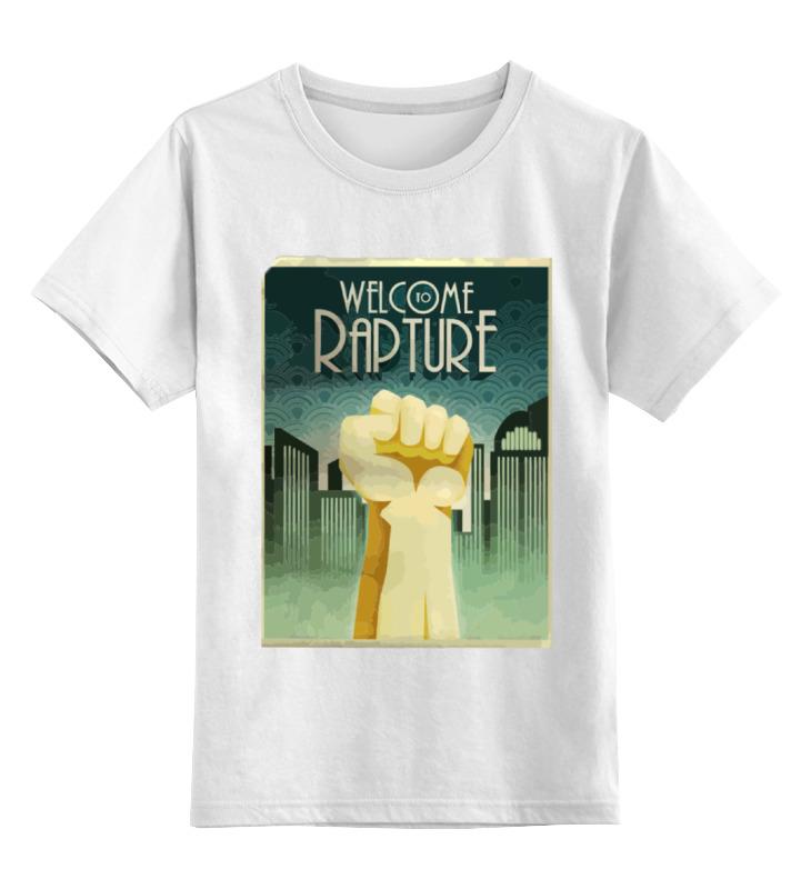 Детская футболка классическая унисекс Printio Welcome to rapture