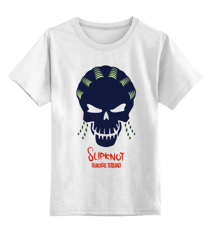 Детская футболка классическая унисекс Printio Слипкнот (отряд самоубийц) футболка рингер printio слипкнот  отряд самоубийц