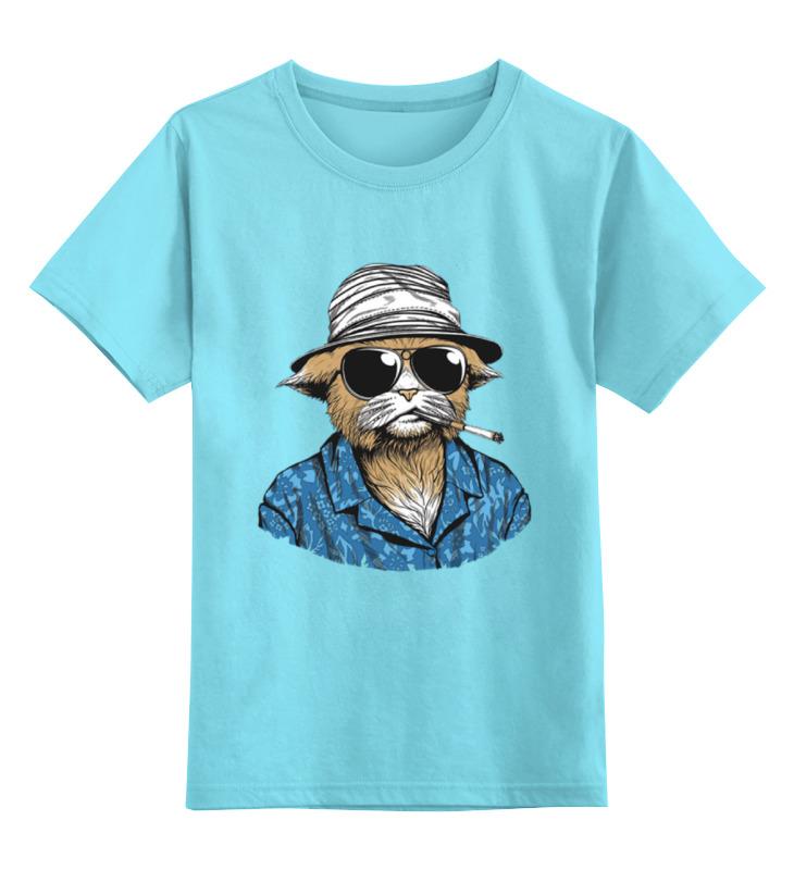 Детская футболка классическая унисекс Printio Hunter s. thompson cat футболка для беременных printio hunter s thompson cat