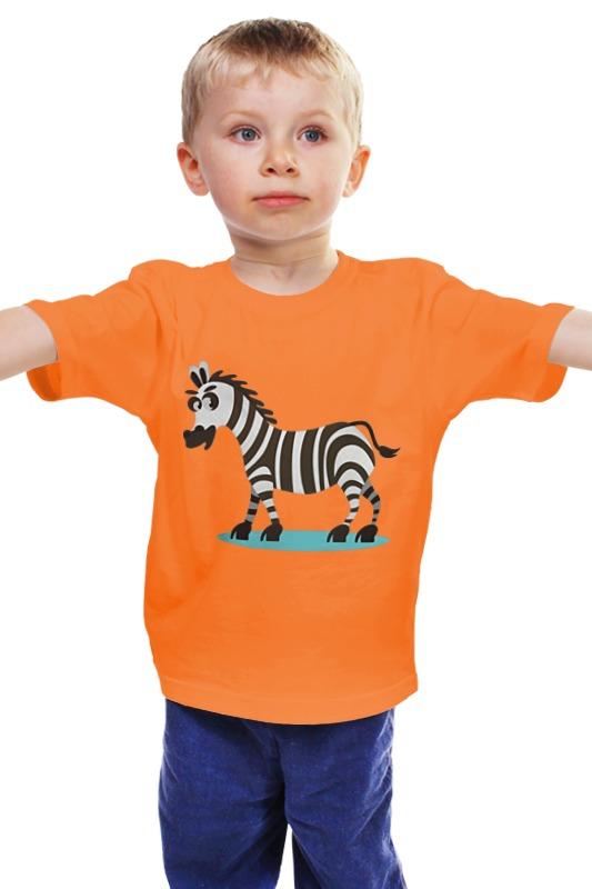 Детская футболка классическая унисекс Printio Зебра юля