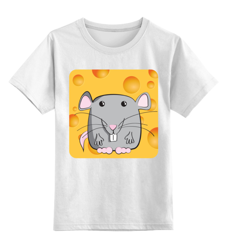 Детская футболка классическая унисекс Printio Мышонок лонгслив printio мышонок