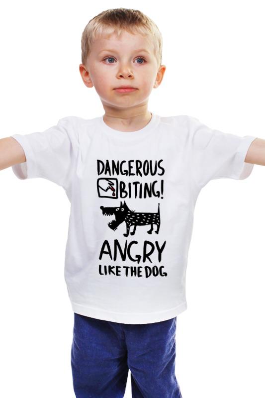 Детская футболка классическая унисекс Printio Статус: злой, как собака! футболка стрэйч printio статус злой как собака