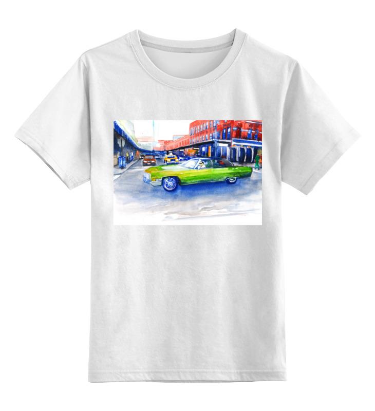 Детская футболка классическая унисекс Printio Крутая машина на 14-ой улице нью йорка yuwell 580 интеллектуальные модели машина только дефолт
