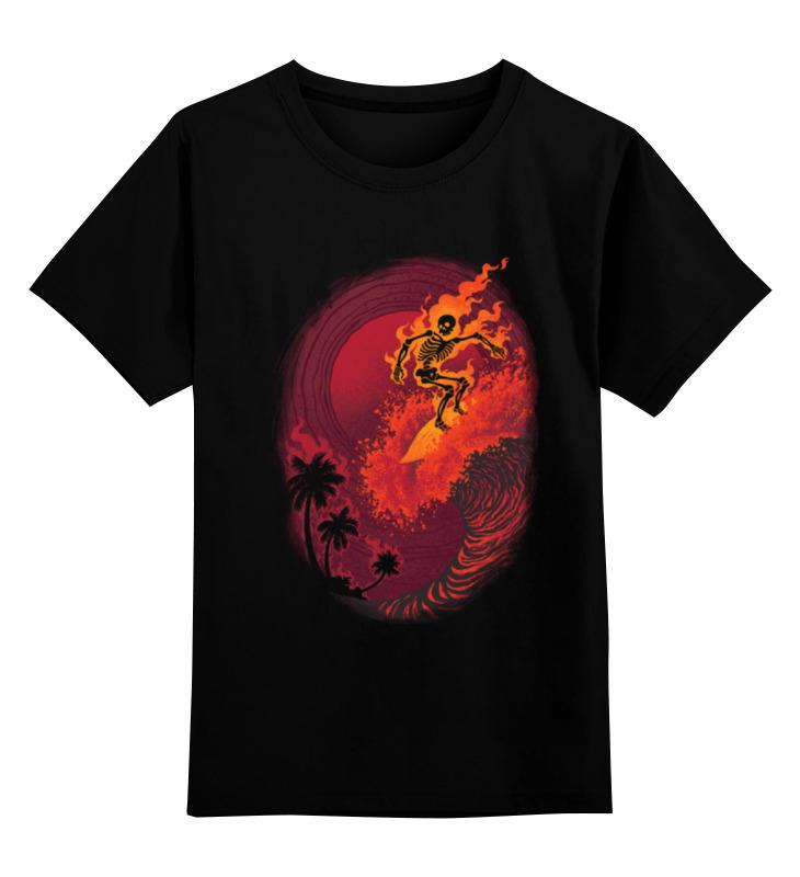 Детская футболка классическая унисекс Printio Огненная волна футболка классическая printio огненная сова