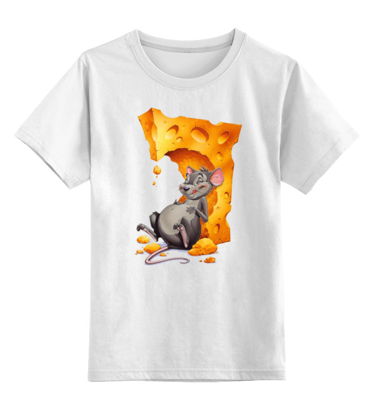 Детская футболка классическая унисекс Printio Сырный мышь мышь rapoo n1162 белый