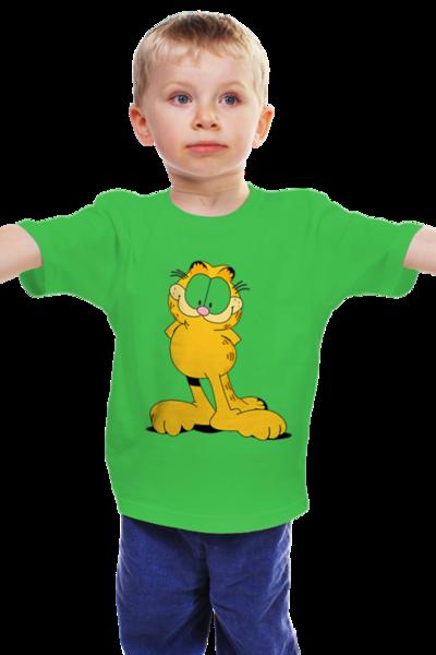 """Детская футболка классическая унисекс """"Гарфилд"""" - футболка, д, гарфилд"""