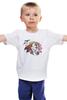 """Детская футболка """"Хранитель природы"""" - арт, лошадь, рисунок, свобода, оберег, этническое, индейские мотивы, анималистическое, славянское, кельтский крест"""