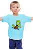 """Детская футболка классическая унисекс """"The Simpsons"""" - симпсоны, the simpsons, барт, барт симпсон"""