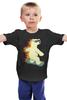 """Детская футболка классическая унисекс """"Медведь на сноуборде"""" - bear, медведь, сноуборд, snowboard"""
