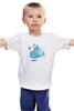 """Детская футболка классическая унисекс """"Дед Мороз на скейте"""" - скейт, happy new year, новый год, winter, зима, дом, семья, снег, барашек, баран"""