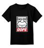 "Детская футболка классическая унисекс ""#DOPE"" - арт, гомер, simpsons, симпсоны, dope, the simpsons, homer simpson"