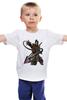 """Детская футболка классическая унисекс """"Mortal Kombat"""" - скорпион, mortal kombat, смертельная битва, мортал комбат, scorpion"""