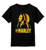 """Детская футболка классическая унисекс """"Боб Марлей (Bob Marley)"""" - регги, боб марли, bob marley, ska, jamaica"""