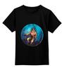 """Детская футболка классическая унисекс """"Waterlife"""" - арт, дайвер, водолаз, дайвинг, deep sea, diver, waterlife"""