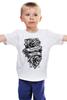 """Детская футболка классическая унисекс """"Forever young """" - цветы, tattoo, тату, розы, roses, дотворк, tm kiseleva"""