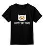 "Детская футболка классическая унисекс ""Hipster time"" - adventure time, время приключений, hipster, finn"