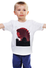 """Детская футболка классическая унисекс """"Godzilla white"""" - фантастика, фильмы, динозавры, годзилла, godzilla"""