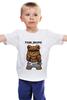 """Детская футболка классическая унисекс """"Fash_Shops SWAG"""" - медведь, swag, миша, fash"""