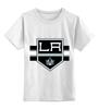 """Детская футболка классическая унисекс """"Лос-Анджелес Кингс """" - хоккей, nhl, нхл, los angeles kings, лос-анджелес кингс"""