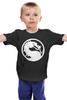 """Детская футболка классическая унисекс """"Mortal Kombat (Мортал Комбат)"""" - mortal kombat, mk, мортал комбат, cмертельная битва"""