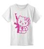 "Детская футболка классическая унисекс ""Hello Kitty AK-47"" - hello kitty, ak 47, angry kitty"