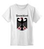 """Детская футболка классическая унисекс """"Германия"""" - германия, символика, страны, герб"""