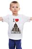 """Детская футболка классическая унисекс """"I love london"""" - лондон, i love london"""