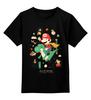 "Детская футболка классическая унисекс ""Платформер"" - super mario, супер марио, видеоигры, платформер, platformer"