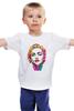 """Детская футболка классическая унисекс """"Мадонна (Madonna)"""" - madonna, мадонна, полигоны, polygons"""