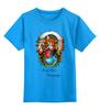 """Детская футболка классическая унисекс """"Merry Xmas Everybody"""" - арт, стиль, рисунок, fox, лиса, индеец, native american"""