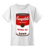 """Детская футболка классическая унисекс """"Campbell's Soup (Энди Уорхол)"""" - поп арт, энди уорхол, pop art, andy warhol"""