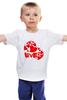 """Детская футболка классическая унисекс """"love"""" - сердце, сердечко, love is"""