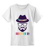 "Детская футболка классическая унисекс ""хипстер"" - style, очки, hat, шляпа, усы, hipster, shades, mustache"