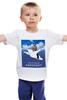 """Детская футболка """"Хабаровский аэропорт с Путиным"""" - медведь, русский медведь, путин на медведе, хабаровский аэропорт"""