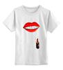 """Детская футболка классическая унисекс """"Губы и помада"""" - губы, помада, wax, губы и помада, накрашеные губы"""