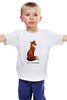 "Детская футболка классическая унисекс ""Лисичка"" - fox, лиса, лисичка, i am a fox"
